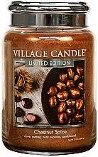 Parfumuri și produse cosmetice Lumânare aromatică - Village Candle Chestnut Spice Glass Jar