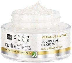 """Parfumuri și produse cosmetice Cremă nutritivă pentru față cu uleiuri """"Shine Wonderful"""" - Avon Nutra Effects Miracle Glow Nourishing Oil Cream"""