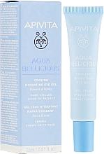 Parfumuri și produse cosmetice Gel hidratant pentru zona ochilor - Apivita Aqua Beelicious Cooling Hydrating Eye Gel