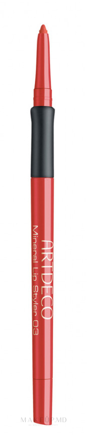 Creion mineral durabil pentru buze - Artdeco Mineral Lip Styler — Imagine 03 - Mineral Orange Thread