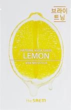 Parfumuri și produse cosmetice Mască din țesătură cu lămâie pentru față - The Saem Natural Lemon Mask Sheet