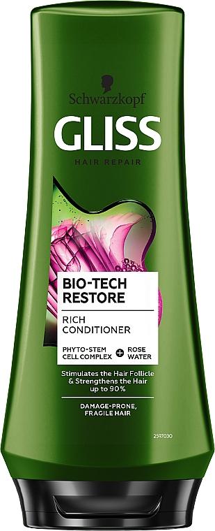 Balsam pentru păr sensibil și deteriorat - Schwarzkopf Gliss Kur Bio-Tech Restore