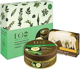 """Parfumuri și produse cosmetice Set """"Nutriție pentru piele"""" - ECO Laboratorie (b/cr/200ml + soap/130g)"""