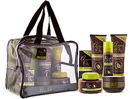 Parfumuri și produse cosmetice Set - Xpel Marketing Ltd Argan Oil (sh/250ml+cond/250ml+oil/50ml+mask/220ml+h/spr/150ml+b/but/250ml)