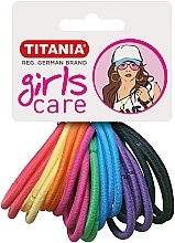 Parfumuri și produse cosmetice Elastice de păr, 20 buc., multicolore - Titania Girls Care