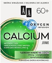 Parfumuri și produse cosmetice Cremă cu oxigen, de zi, pentru față, 60+ - AA Oxygen Infusion Calcium Jono Day Cream