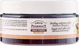 """Parfumuri și produse cosmetice Scrub de corp cu zahăr și sare """"Unt de Shea și cafea verde"""" - Green Pharmacy"""