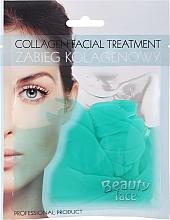 Parfumuri și produse cosmetice Mască de colagen cu ceai verde și vitamine pentru față - Beauty Face Collagen Hydrogel Mask