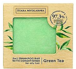"Parfumuri și produse cosmetice Твердый шампунь-кондиционер ""Зеленый чай"" - Stara Mydlarnia Green Tea 2in1 Shampoo Bar"