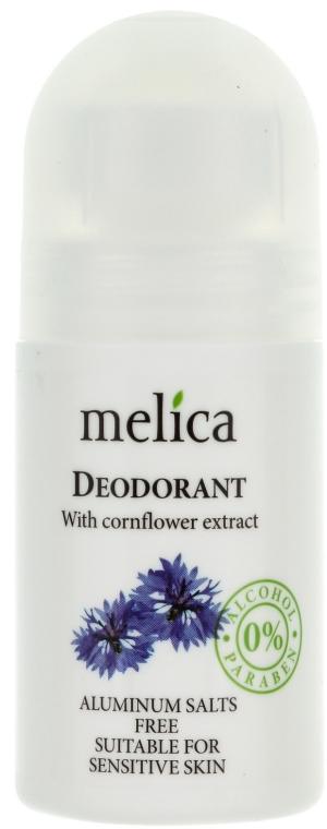 Deodorant cu extract de albăstrele - Melica Organic With Cornflower Extract Deodorant