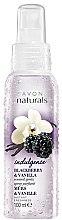 """Parfumuri și produse cosmetice Loțiune-Spray de corp """"Vanilie"""" - Avon Naturals Flirty Blackberry Vanilla Body Spray"""