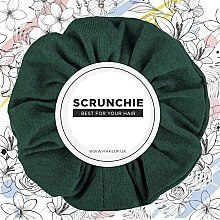 """Parfumuri și produse cosmetice Elastic de păr, tricotaj, verde smarald """"Knit Classic"""" - MakeUp Hair Accessories"""