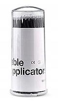 Parfumuri și produse cosmetice Microaplicatoare pentru gene, negru, 100 buc - Lewer Micro Applicators