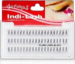 Parfumuri și produse cosmetice Gene false smocuri - Aden Cosmetics Indi-Lash Flare Long Black (1bucată)