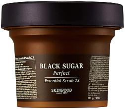 Parfumuri și produse cosmetice Scrub cu zahăr negru pentru față - SkinFood Black Sugar Perfect Essential Scrub 2X