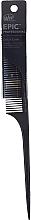 Parfumuri și produse cosmetice Pieptene pentru păr, neagră - Wet Brush Pro Epic Carbonite Tail Comb