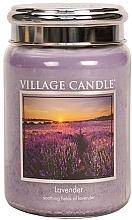 """Parfumuri și produse cosmetice Lumânare parfumată în borcan """"Lavandă"""" - Village Candle Lavender"""