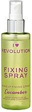 Parfumuri și produse cosmetice Spray pentru fixarea machiajului - I Heart Revolution Fixing Spray Cucumber