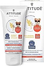 Parfumuri și produse cosmetice Cremă de protecție solară pentru corp - Attitude Little Ones Sensitive Skin Sunscreen SPF 30