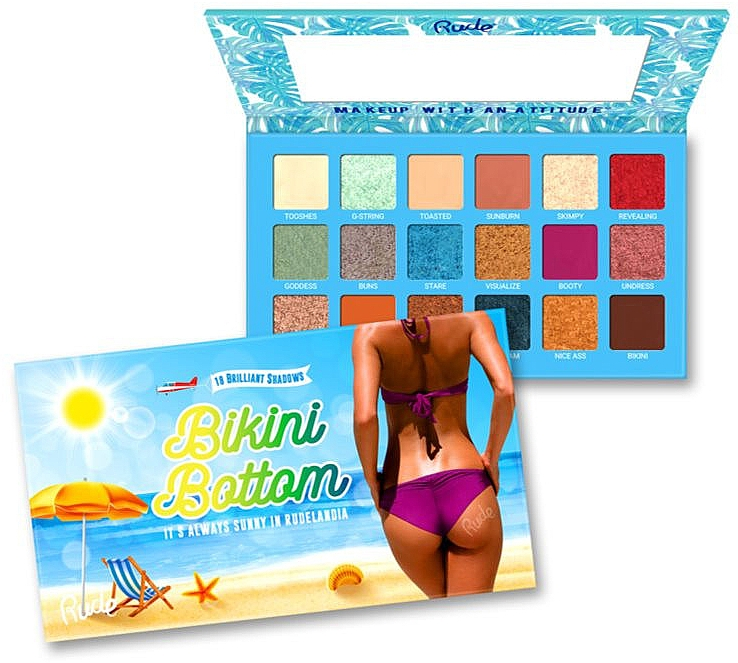 Paletă farduri de ochi - Rude Bikini Bottom Eyeshadow Palette