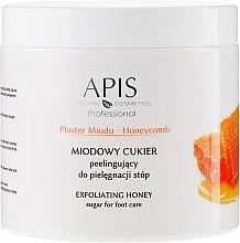 Parfumuri și produse cosmetice Peeling de zahăr și miere pentru picioare - APIS Professional Honeycomb Exfoliating Honey Sugar For Foot Care