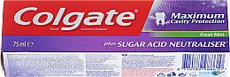 "Parfumuri și produse cosmetice Pastă de dinți ""Sugar Acid Neutraliser"" - Colgate Maximum Cavity Protection Fresh Mint"