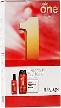 Parfumuri și produse cosmetice Set - Revlon Professional Uniq One Uniqone Duo Pack (spray/150ml + sham/condit/300ml)