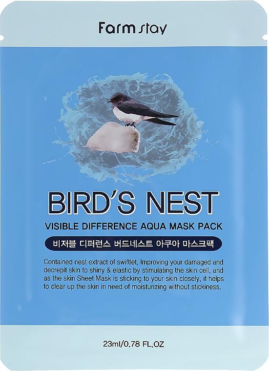 Mască din țesătură cu extract de cuib de rândunică - Farmstay Visible Difference Mask Sheet