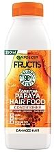 "Parfumuri și produse cosmetice Balsam regenerant pentru păr ""Papaya"" - Garnier Fructis Repairing Papaya Hair Food Conditioner"
