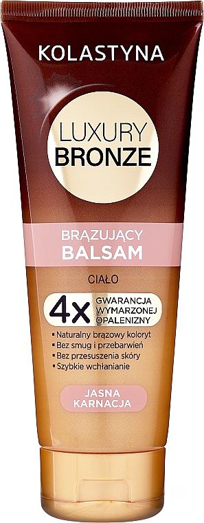 Balsam autobronzant pentru piele deschisă la culoare - Kolastyna Luxury Bronze Balm