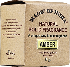 "Parfumuri și produse cosmetice Cremă-parfum natural ""Amber"" - Shamasa"