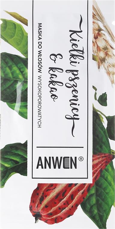 Mască pentru păr cu porozitate ridicată - Anwen Masks For Highly-Porous Hair Wheat Sprouts and Cocoa (Tester) — Imagine N1