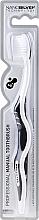 Духи, Парфюмерия, косметика Зубная щетка c ионами серебра, антибактериальный эффект, средняя, бело-серая - WhiteWash Laboratories Whitening Toothbrush Nanosilver Technology