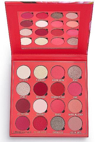Палетка теней для век, 16 цветов - Makeup Obsession Kisses Eyeshadow Palette — фото N1