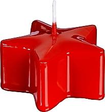 """Parfumuri și produse cosmetice Lumânare decorativă """"Stea"""", roșie, 40/78 mm - Bolsius Pillar Star Candle"""