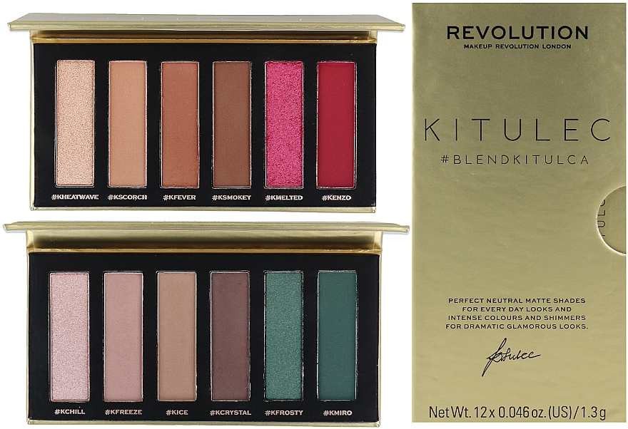 Set - Makeup Revolution Kitulec #BlendKitulca Shadow Palette (2xsh/palette/7.8g)