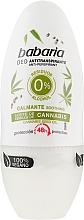 Parfumuri și produse cosmetice Deodorant Roll-On cu extract de cânepă - Babaria Cannabis Deodorant Roll-on