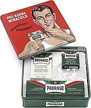 "Parfumuri și produse cosmetice Set - Proraso Classic Shaving Metal Green ""Gino"" (pre/cr/100ml + sh/cr/150ml + ash/cr/100ml)"