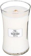 Lumânare aromată cu suport din sticlă - WoodWick Hourglass Candle White Tea & Jasmine — Imagine N2