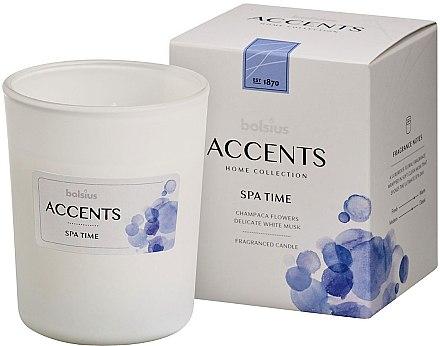 "Lumânare aromatică în borcan ""Spa time"", 9,5x7,6cm - Bolsius Aromatic"