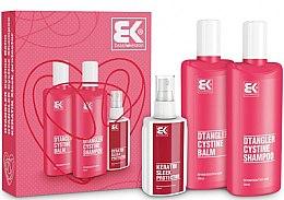 Parfumuri și produse cosmetice Set - Brazil Keratin Dtangler Cystine (sh/300ml + balm/300ml + spray/100ml)
