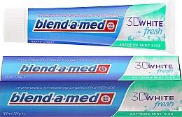 "Parfumuri și produse cosmetice Pastă de dinți ""The Kiss Minty"" - Blend-A-Med 3D White Fresh Extreme Mint Kiss Toothpaste"