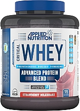 "Parfumuri și produse cosmetice Amestec de proteine ""Milkshake de căpșuni"" - Applied Nutrition Critical Whey Advanced Protein Blend Strawberry Milkshake"