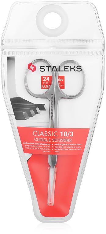 Foarfece de manichiură, 24 mm, SC-10/3 - Staleks Classic 10 Type 3