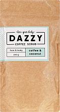 """Parfumuri și produse cosmetice Scrub de cafea pentru față și corp """"Cafea și nucă de cocos"""" - Dazzy Coffee Face & Body Scrub Coffee & Cocos"""