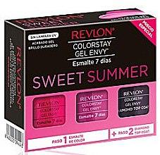 Parfumuri și produse cosmetice Set de lacuri de unghii - Revlon Colostay Gel Envy Sweet Summer Set (nail/polish/2x15ml + top/coat/15ml)