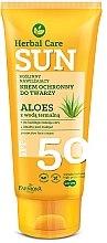 Parfumuri și produse cosmetice Cremă cu protecție solară pentru față - Farmona Herbal Care Sun SPF 50