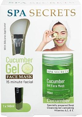 Set - Spa Secrets Cucumber Gel Face Mask (mask/140ml + brush/mask/1pcs)