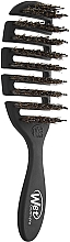 Parfumuri și produse cosmetice Perie de păr, neagră - Wet Brush Pro Flex Dry Shine Enhancer Black