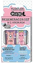 """Parfumuri și produse cosmetice Set """"Regenerarea buzelor în 2 etape"""" - Floslek (lip/scrub/14g + lip/mask/14g)"""